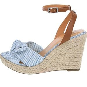 Nautica espadrille wedge open-toe sandal, new!